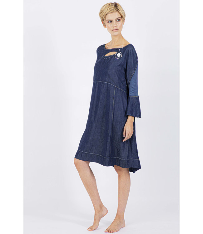 Elisa Cavaletti Dress Denim Blu