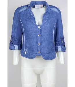Elisa Cavaletti Cropped linen jacket Mare