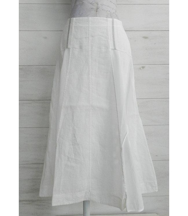 Elisa Cavaletti Linen skirt Bianco