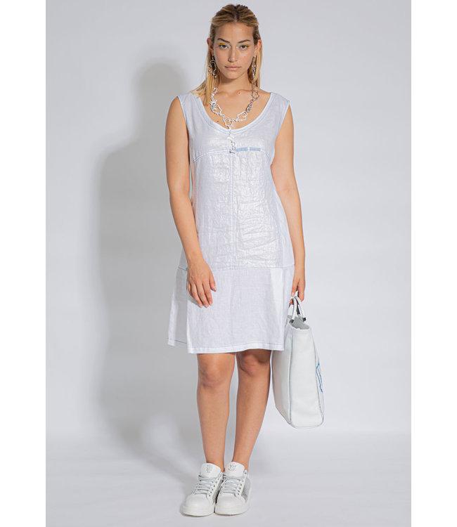 Elisa Cavaletti Linen dress Bianco