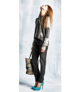 Elisa Cavaletti Jeans schwarz-gold verwaschen