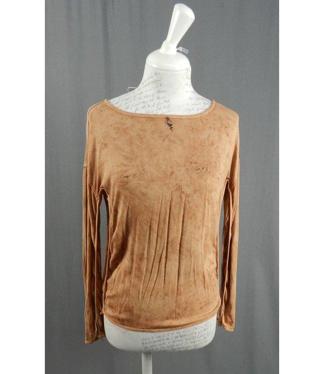Elisa Cavaletti Basic-Shirt altrosa-braun-gold