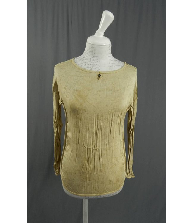 Elisa Cavaletti Basic-Shirt beige-gold