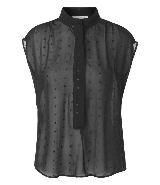 Rosemunde Top black with dots
