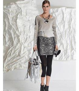 Elisa Cavaletti Short knitted pullover beige