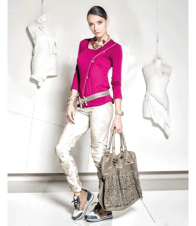 Elisa Cavaletti Basic-Shirt pink