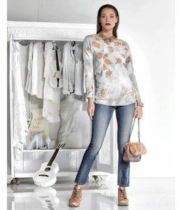 Elisa Cavaletti Printed T-shirt silvery grey