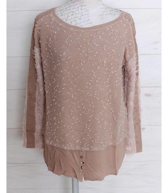 Elisa Cavaletti Long shirt dusky pink