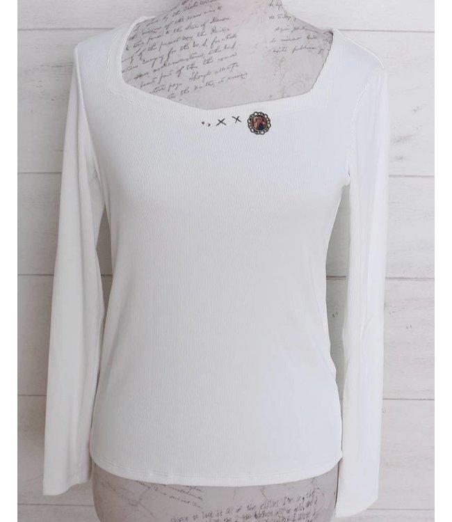 Elisa Cavaletti Basic-Shirt weiss