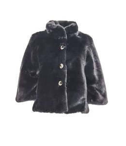 Elisa Cavaletti Faux-fur jacket black