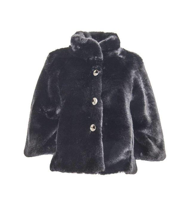 Elisa Cavaletti Faux-fur jacket black