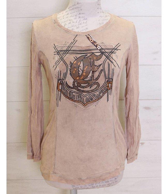 Elisa Cavaletti T-shirt dusky-pink