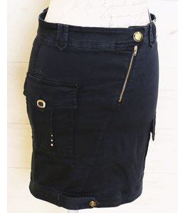 Elisa Cavaletti Faded skirt dark blue
