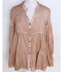 Elisa Cavaletti Blouse antique pink - reddish gold