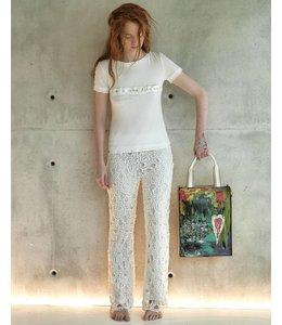 Elisa Cavaletti Extravagant ecru trousers