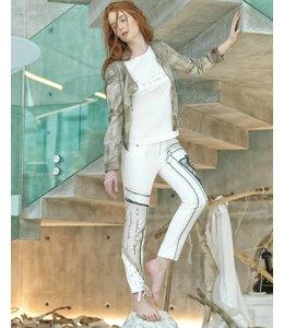 Elisa Cavaletti Veste en jean brun et taupe