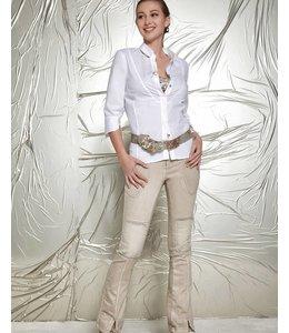 Elisa Cavaletti Chemisier court blanc