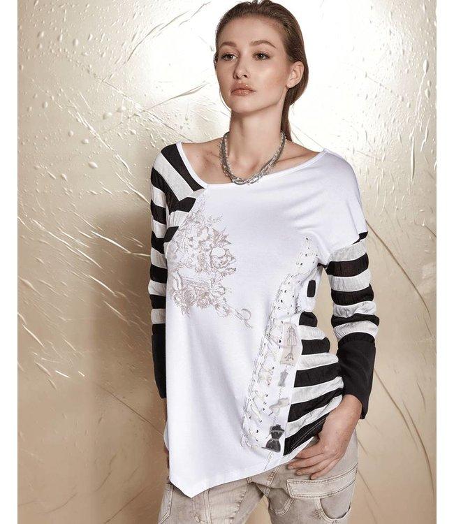 Elisa Cavaletti T-Shirt schwarz-weiss