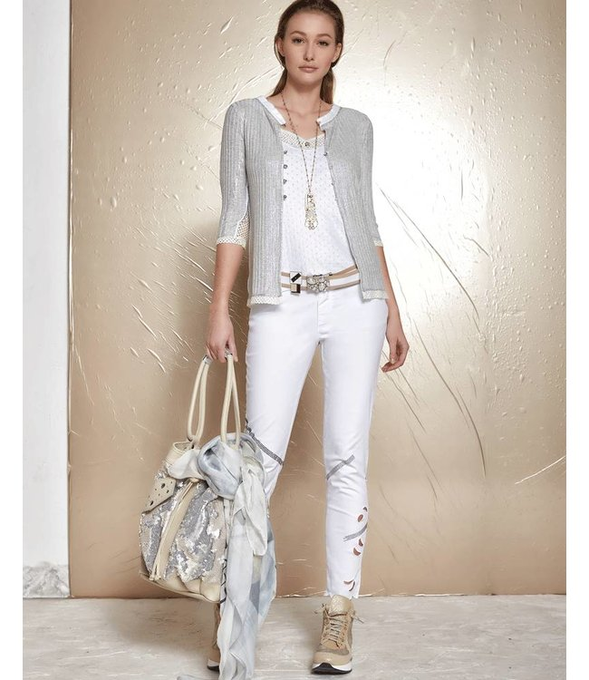Elisa Cavaletti Short jacket light grey