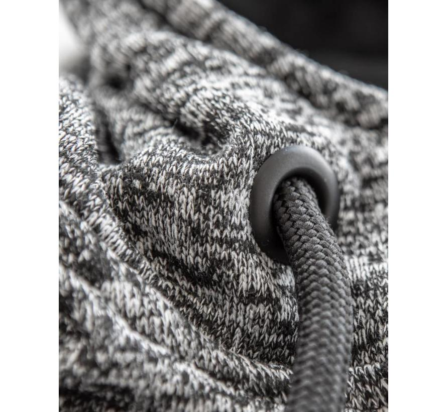 Melange Knit Kapuzenpulli