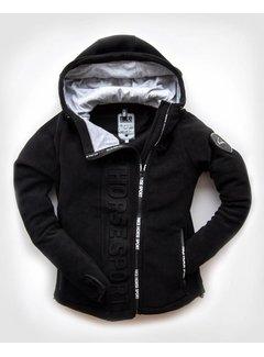 HORSE SPORT ZIP hooded jacket Black