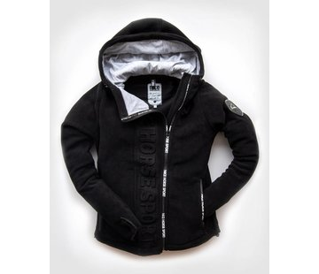 HORSE SPORT ZIP hooded jacket Black