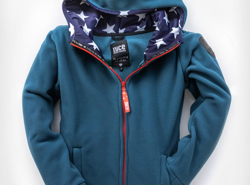 Fleecejacket USA Cashmere Blue