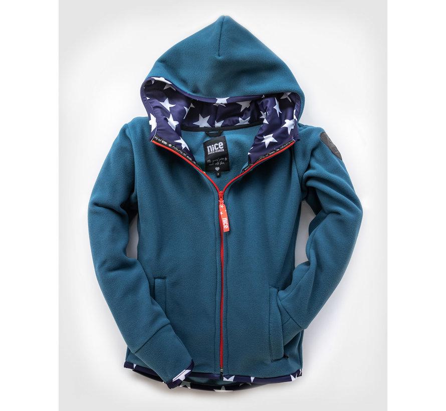 Fleecejacket USA Cashmere Blue