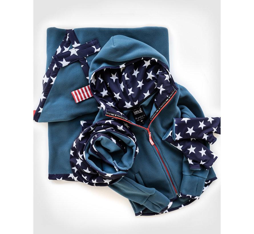 Fleecejacke USA Cashmere Blue