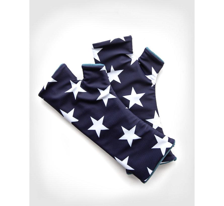 fingerless gloves - USA Cashmere Blue