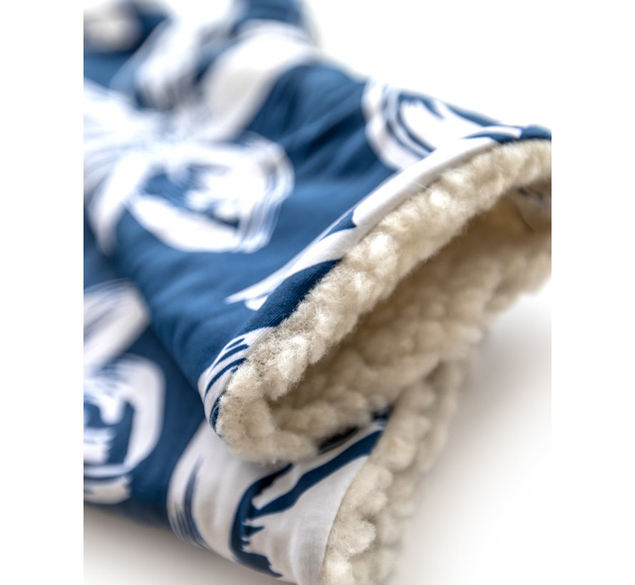 guanti senza dita - Blue Flower