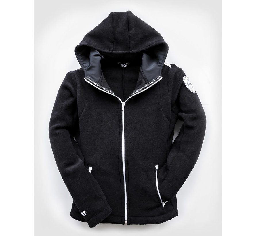 POLAR Hooded FLEECEJacke Black