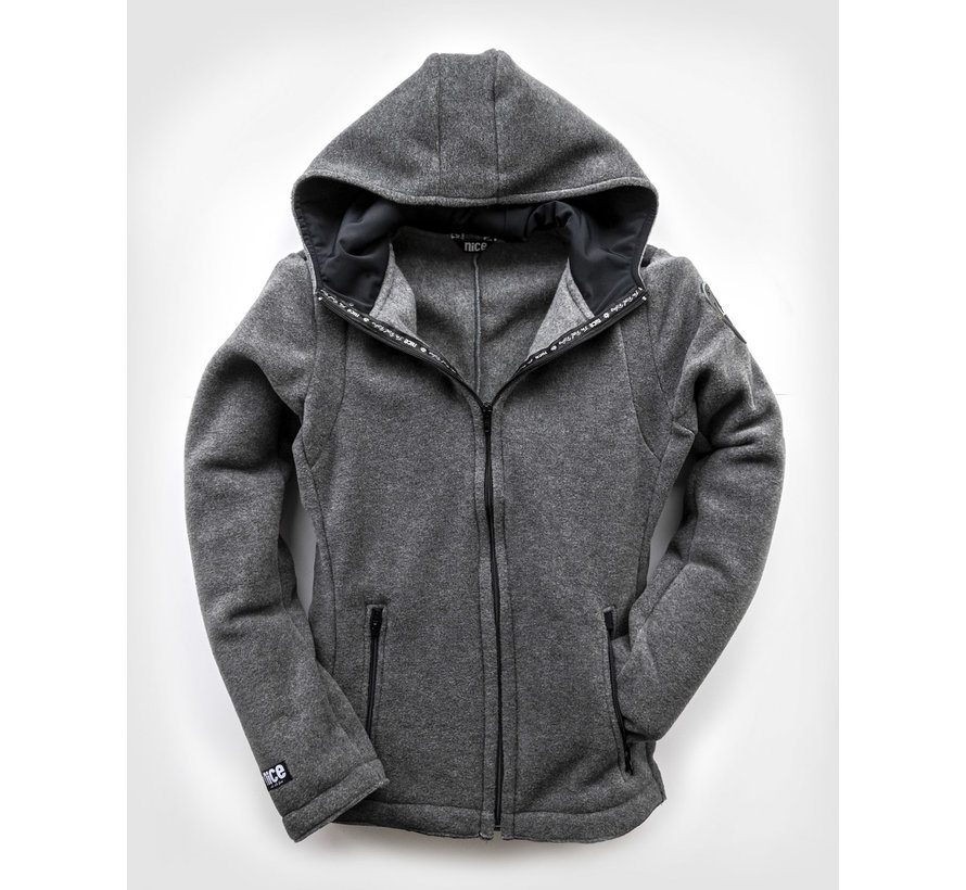 POLAR Hooded FLEECEJacke Grey