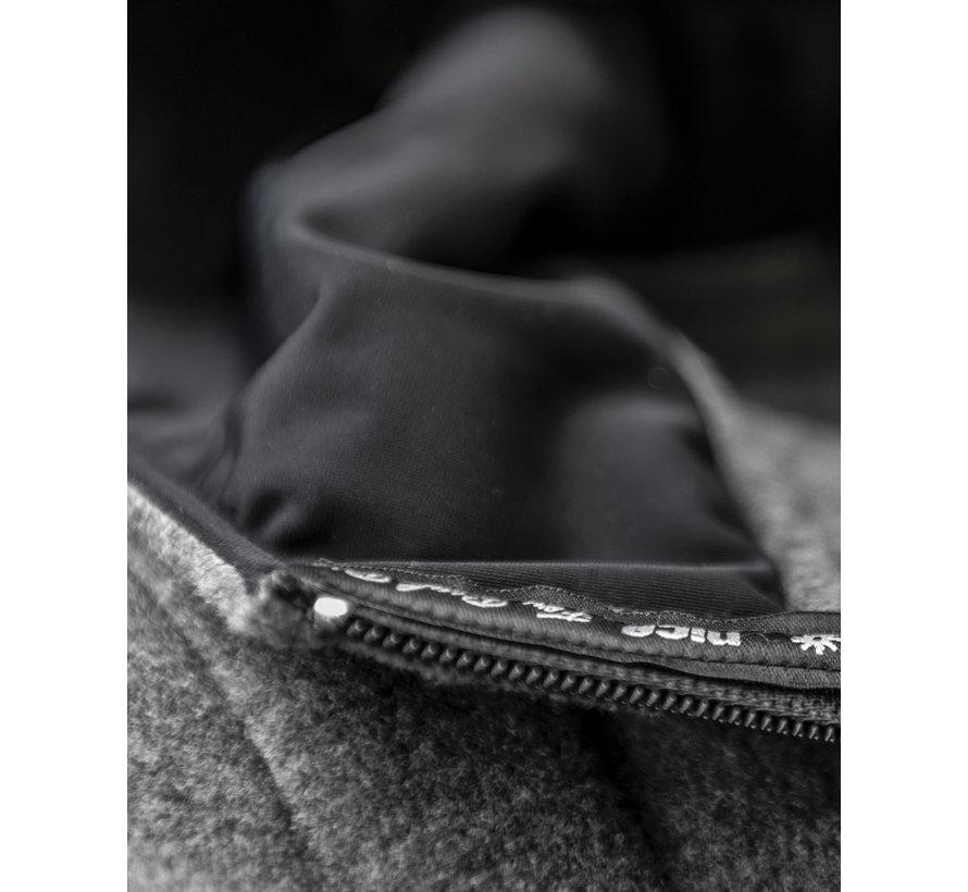 POLAR Hooded FLEECE Jacket Gray