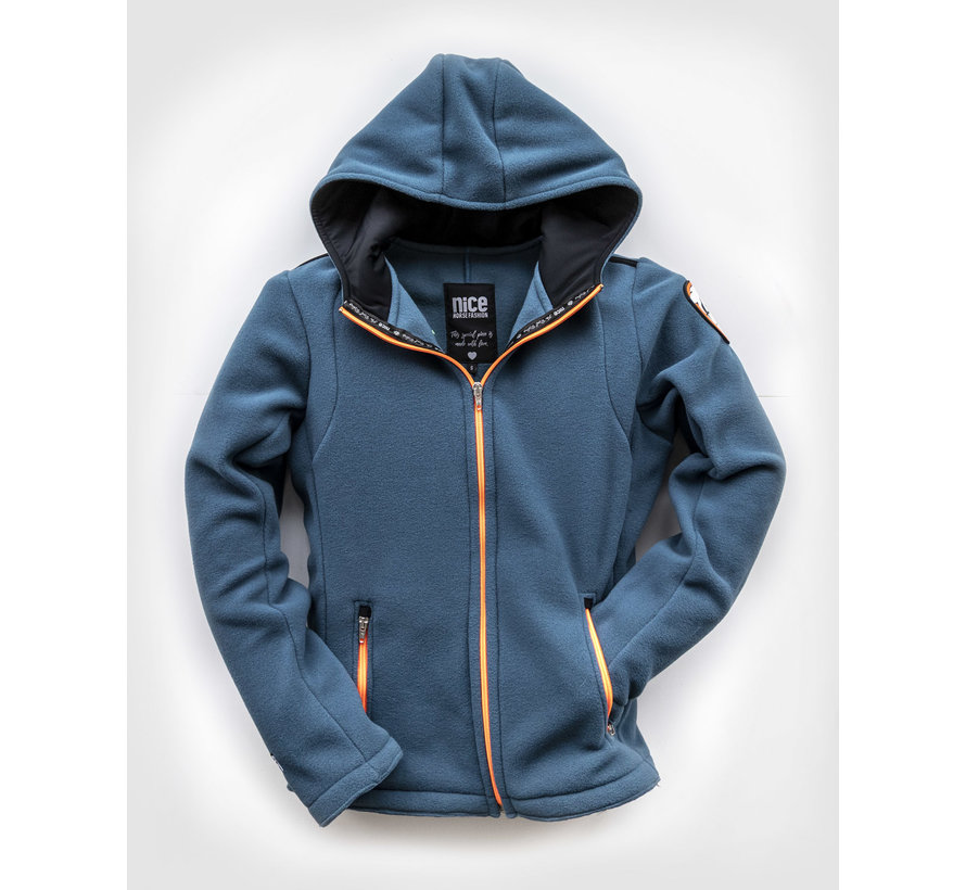 POLAR Hooded FLEECEJacke Cashmereblue
