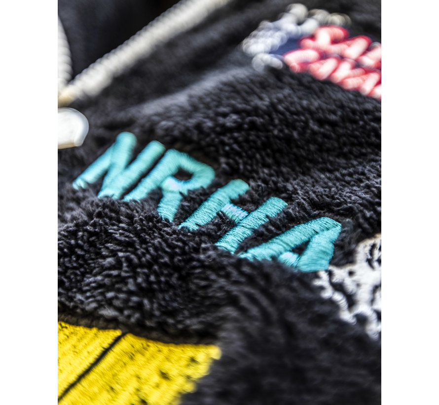 Giacca con cappuccio IRHA Derby / NRHA Nera