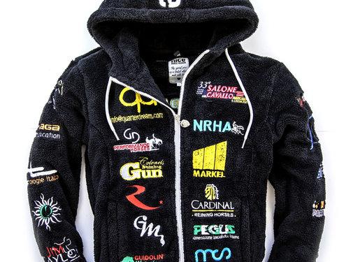 IRHA Derby / NRHA Kapuzenjacke Black