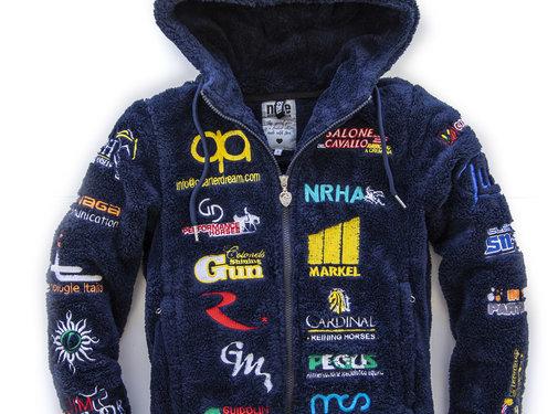 IRHA Derby / NRHA hooded jacket Blue