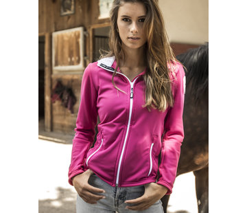 SPORT TEC hooded jacket Pink White