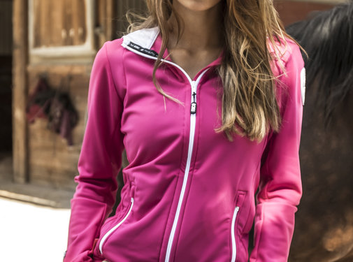 SPORT TEC hooded jacket Pink White