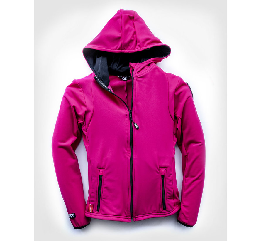 SPORT TEC hooded jacket Pink Black
