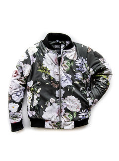 Bomber Jacket White Rose