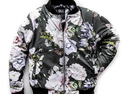 Bomber Jacket White Rose
