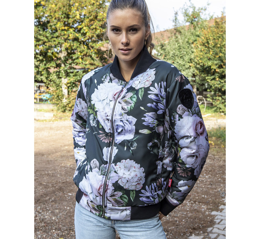 Bomberjacke White Rose