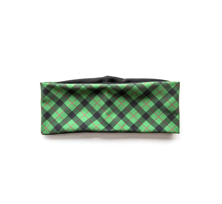 HEADBAND Green Tartan