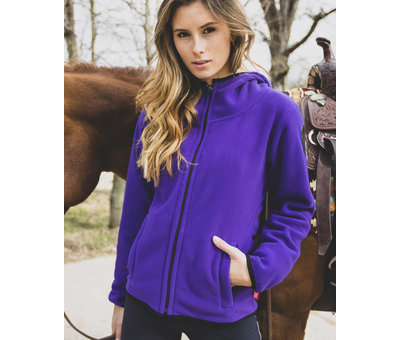 POLAR Hooded Fleece-ZIP Purple