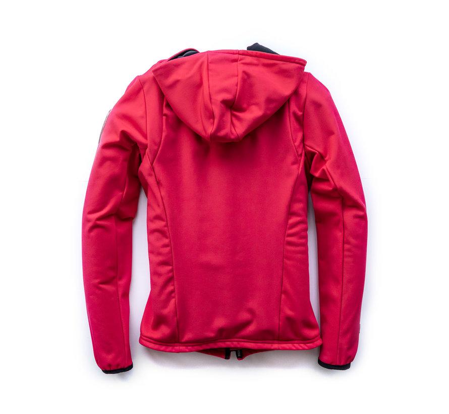 Giacca con cappuccio SPORT TEC arancio-rosa