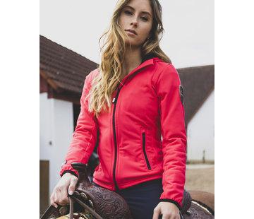 SPORT TEC hooded jacket orange-pink