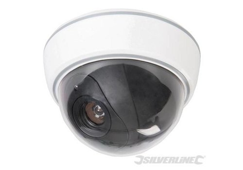 Silverline Dummy koepelcamera met knipperende LED