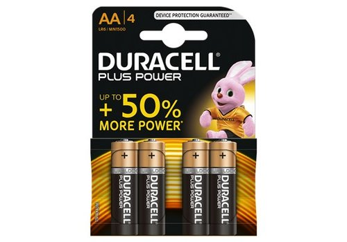 Duracell Alkaline Plus Power AA 4st.